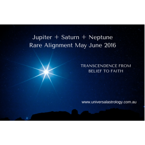 Jupiter + Saturn + NeptuneRare Alignment